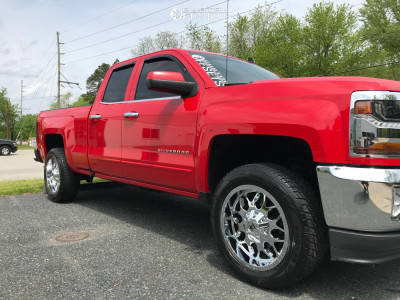 2016 Chevrolet Silverado 1500 - 20x9 0mm - RBP 73R - Leveling Kit - 285/50R20
