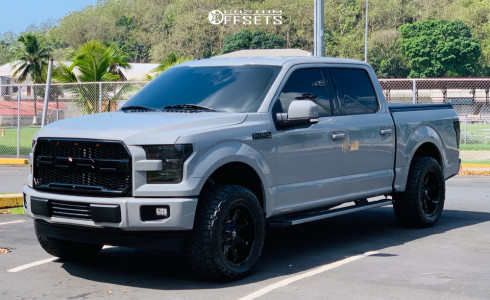 """2017 Ford F-150 - 20x10 -18mm - Fuel Coupler - Leveling Kit - 33"""" x 12.5"""""""