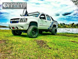"2007 Chevrolet Avalanche - 20x12 -44mm - Fuel Octane - Suspension Lift 7.5"" - 35"" x 12.5"""
