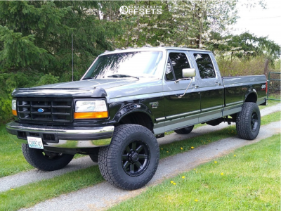 "1996 Ford F-350 - 18x10 -25mm - Ultra Crusher - Stock Suspension - 35"" x 12.5"""