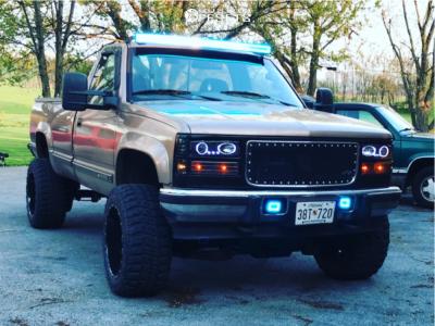 "1995 Chevrolet K3500 - 20x12 -44mm - Worx Sentry - Suspension Lift 6"" - 33"" x 12.5"""