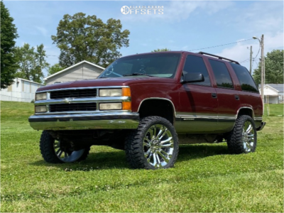 "1999 Chevrolet Tahoe - 22x9 24mm - 4Play OE Wheels CV43 - Leveling Kit - 33"" x 12.5"""