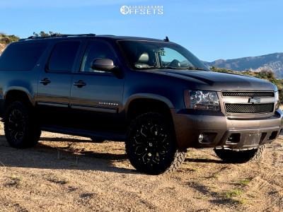 "2010 Chevrolet Suburban 1500 - 20x9 1mm - Fuel Assault - Leveling Kit - 33"" x 12.5"""