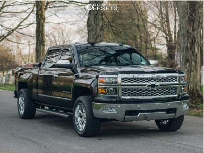 2015 Chevrolet Silverado 1500 - 20x10 -19mm - Hostile Vulcan - Leveling Kit - 285/50R20