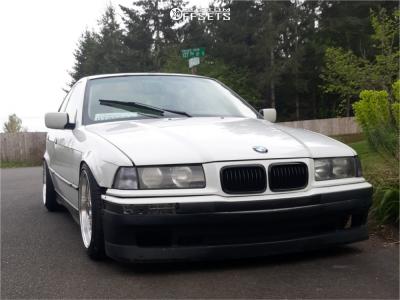 1994 BMW 325i - 17x8.5 15mm - JNC Jnc004 - Lowering Springs - 215/45R17