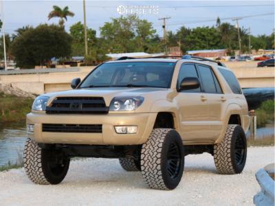 "2005 Toyota 4Runner - 20x12 -44mm - Motiv Offroad Mutant - Suspension Lift 7.5"" - 33"" x 12.5"""