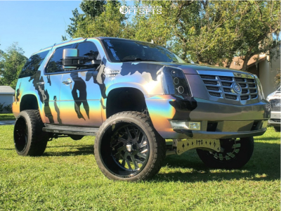 """2009 Cadillac Escalade - 24x14 -76mm - Specialty Forged Sf015 - Suspension Lift 7"""" - 35"""" x 12.5"""""""