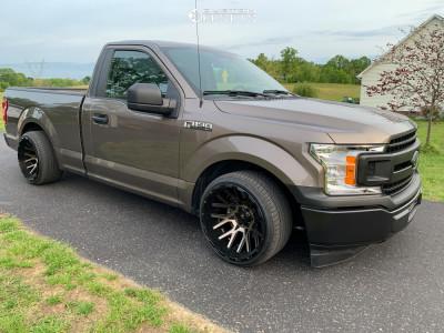 2018 Ford F-150 - 20x12 -44mm - V-Rock Recoil - Lowered 4F / 6R - 285/30R20