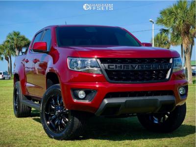 2017 Chevrolet Colorado - 20x9 19mm - Fuel Sledge - Leveling Kit - 275/50R20