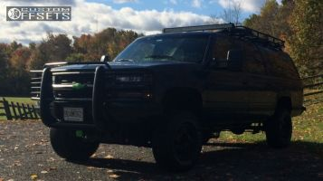 """1994 Chevrolet K1500 Suburban - 16x7.5 31mm - Spaced Out Stockers Spaced Out Stockers - Suspension Lift 6"""" - 275/75R16"""