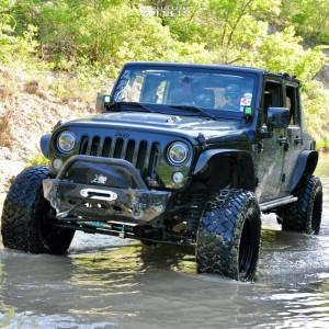 "2015 Jeep Wrangler JK - 17x8 -6mm - Pro Comp Series 98 - Suspension Lift 4.5"" - 35"" x 12.5"""