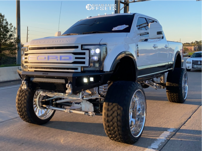 """2017 Ford F-250 Super Duty - 30x16 -101mm - TIS Forged Concept - Suspension Lift 12"""" - 42"""" x 16.5"""""""