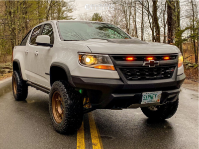 2018 Chevrolet Colorado - 17x8.5 0mm - Method Mr701 - Leveling Kit - 265/70R17