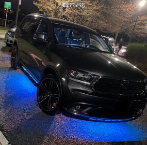 2016 Dodge Durango - 22x9 35mm - Capri Luxury C5189 - Stock Suspension - 265/35R22