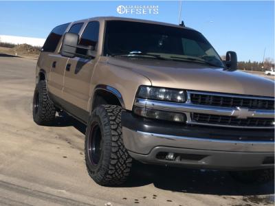 "2006 Chevrolet Suburban 1500 - 16x10 -38mm - Cragar Soft 8 - Suspension Lift 2.5"" - 265/75R16"