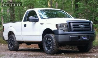 """2010 Ford F-150 - 18x9 0mm - XD Thump - Leveling Kit - 32"""" x 11.5"""""""