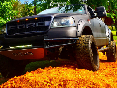 """2008 Ford E-150 - 20x12 -44mm - Twisted Offroad Raptor - Suspension Lift 5"""" - 33"""" x 12.5"""""""