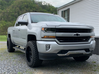 "2018 Chevrolet Silverado 1500 - 20x12 -44mm - Hostile Alpha - Leveling Kit - 33"" x 12.5"""