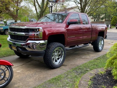 "2017 Chevrolet Silverado 1500 - 22x10 -19mm - Motiv Morph - Suspension Lift 7"" - 35"" x 12.5"""
