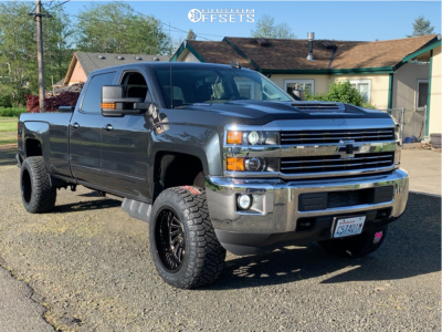 2018 Chevrolet Silverado 2500 HD - 20x12 -51mm - ARKON OFF-ROAD Caesar - Leveling Kit - 305/55R20