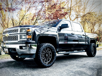 "2014 Chevrolet Silverado 1500 - 22x10 -25mm - Hostile Blaze - Leveling Kit - 33"" x 12.5"""