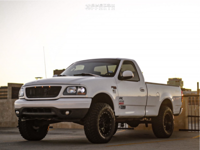 """2003 Ford F-150 - 17x9 -12mm - Raceline Injector - Suspension Lift 5.5"""" - 295/70R17"""