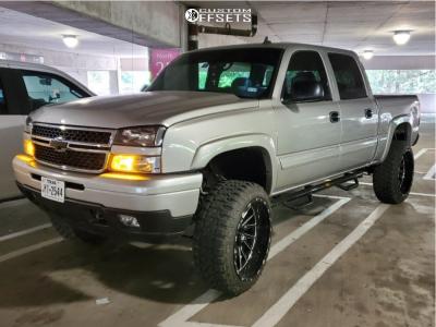 "2007 Chevrolet Silverado 1500 Classic - 24x12 -44mm - TIS 547bm - Suspension Lift 6"" - 35"" x 12.5"""