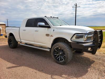 "2014 Dodge Ram 3500 - 22x12 -44mm - Dropstars 654bm - Leveling Kit - 35"" x 12.5"""