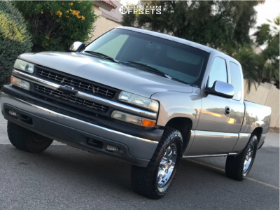 1999 Chevrolet Silverado 1500 - 18x8.5 -6mm - Mb Wheels Razor - Leveling Kit - 285/65R18
