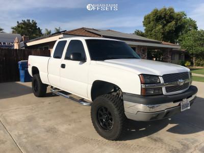 """2003 Chevrolet Silverado 1500 - 17x8 10mm - Ultra Bolt - Suspension Lift 5"""" - 285/70R17"""