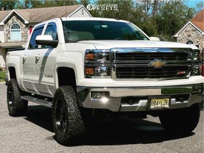 "2015 Chevrolet Silverado 1500 - 20x10 -18mm - Rough Country Series 93 - Suspension Lift 7"" - 35"" x 12.5"""