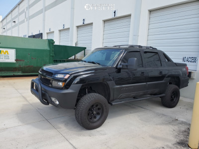 "2002 Chevrolet Avalanche 1500 - 17x9 -12mm - American Racing Baja - Suspension Lift 6"" - 285/70R17"