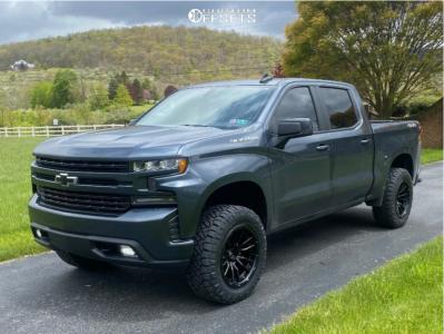 "2019 Chevrolet Silverado 1500 - 20x10 -18mm - Fuel Rebel - Body Lift 3"" - 33"" x 11.5"""