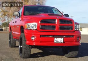 "2004 Dodge Ram 1500 - 24x10 13mm - Velocity Split 7 - Suspension Lift 6"" - 325/45R24"