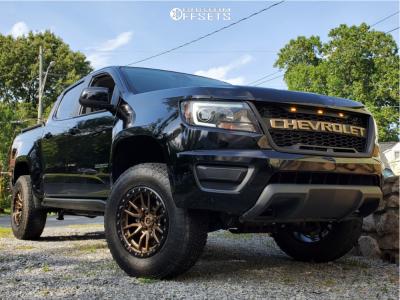 2018 Chevrolet Colorado - 17x9 1mm - Fuel Rebel - Leveling Kit & Body Lift - 265/70R17