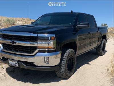 """2016 Chevrolet 1500 - 17x9 -12mm - Method Mr315 - Leveling Kit - 33"""" x 12.5"""""""
