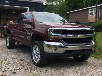 "2016 Chevrolet 1500 - 20x9 -12mm - XD Badlands - Suspension Lift 3.5"" - 33"" x 12.5"""