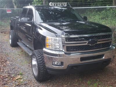 "2013 Chevrolet Silverado 2500 HD - 20x12 -44mm - Dropstars 655c - Leveling Kit - 33"" x 12.5"""