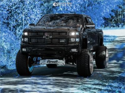 "2015 Chevrolet Silverado 1500 - 26x16 -103mm - Specialty Forged Sf003 - Suspension Lift 10"" - 37"" x 13.5"""
