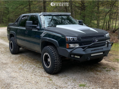 """2004 Chevrolet Avalanche 1500 - 16x10 -38mm - Alloy Ion Style 174 - Suspension Lift 2.5"""" - 285/75R16"""