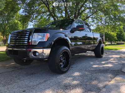 2011 Ford F-150 - 20x12 -44mm - American Offroad Renegade - Leveling Kit - 305/55R20