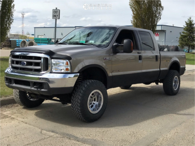 """2003 Ford F-350 Super Duty - 17x10 -47mm - Weld Racing Mountain Crusher - Suspension Lift 3.5"""" - 285/70R17"""