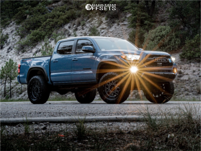 "2019 Toyota Tacoma - 18x9 -12mm - Vision Rocker - Suspension Lift 3"" - 285/65R18"