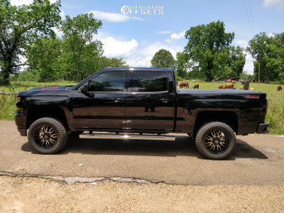 """2018 Chevrolet Silverado 1500 - 20x9 12mm - Panther Offroad 580 - Suspension Lift 5"""" - 33"""" x 12.5"""""""
