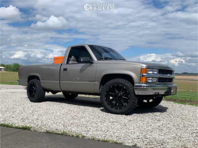 "1999 Chevrolet C2500 - 20x10 -19mm - Alloy Ion 141 - Stock Suspension - 33"" x 12.5"""