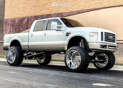 """2008 Ford E-250 Super Duty - 26x16 -103mm - American Force Kash Ss - Suspension Lift 10"""" - 40"""" x 15.5"""""""