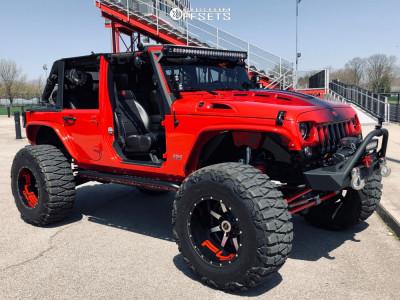 """2012 Jeep Wrangler JK - 20x14 -76mm - Fuel Maverick - Suspension Lift 4.5"""" - 40"""" x 15.5"""""""