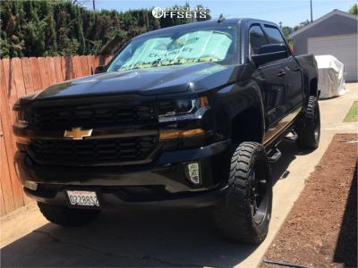 "2017 Chevrolet Silverado 1500 HD - 20x9 0mm - Lrg 102 - Suspension Lift 6"" - 35"" x 12.5"""