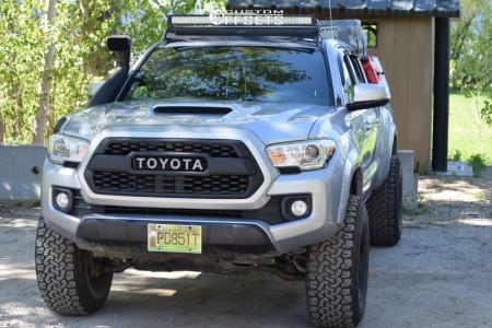 "2017 Toyota Tacoma - 16x9 -12mm - American Racing Baja - Suspension Lift 3"" - 33"" x 12.5"""