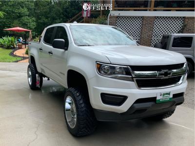 "2019 Chevrolet Colorado - 20x12 -44mm - Moto Metal Mo986 - Suspension Lift 6"" - 33"" x 12.5"""